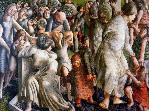 Stanley Spencer_the-resurrection-reunion-of-families-1945