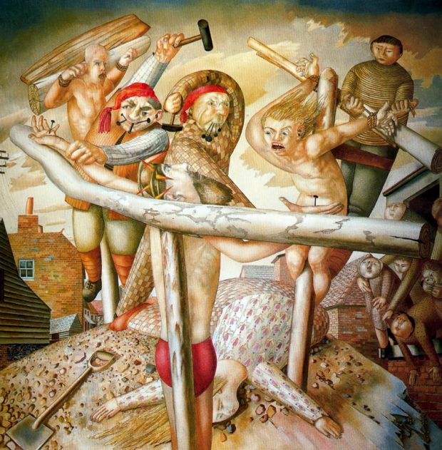 Stanley_Spencer_the_crucifixion_1958