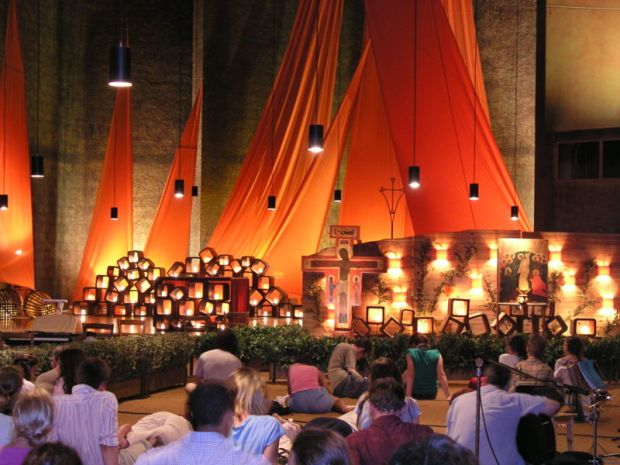Prayer in Taize Church