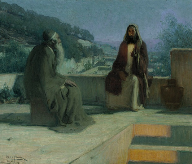 Art_Henry_Ossawa_Tanner_-_Jesus_and_Nicodemus on a Rooftop_1899